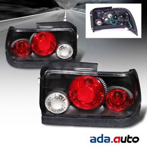 For 1993 1994 1995 1996 1997 Toyota Corolla Altezza Black Tail Lights Lamps