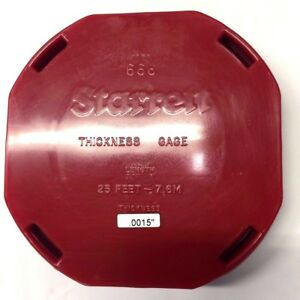 Starrett Steel Thickness Feeler Gage Coil 0 0015 Thickness P n 666 1 1 2