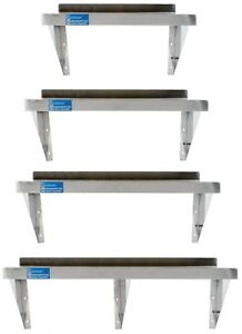 Stainless Steel Wall Mount Shelf Heavy Duty Commercial Grade Nsf Sq Edge