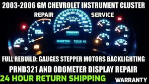 2003 2006 Gm Chevrolet Gmc Instrument Cluster Gauge Repair Stepper Motor Service