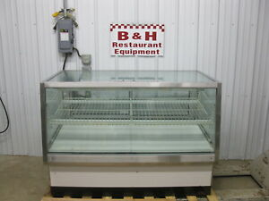 58 1 2 Glass Two Dr 2 Door Full Service Bakery Donut Display Show Case 5