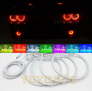 Rgb For Dodge Challenger Headlight Fog Light Led Angel Eye 6 Halo Ring Demon Drl