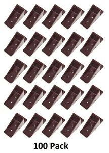 100 Pack Brown Mini Roof Guard Snow Sliding Ice Snow Stop Plastic Acrylic