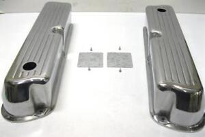 Small Block Ford 302 Tall Ball Mill Polished Aluminum Valve Covers 289 302 351w