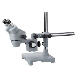 Amscope Sm 3b esd 7x 45x Stereo Zoom Microscope With Single Arm Boom Stand
