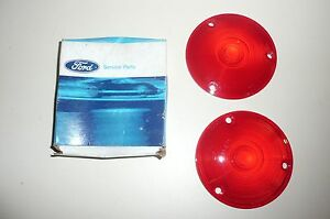 1961 1967 Ford Econoline Van Tail Lamp Lens Pair Nos 61 62 66 Pickup E 100 63 64