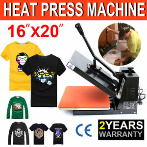 16 x20 Diy Digital Heat Press Machine For T shirts Htv Transfer Sublimation Us