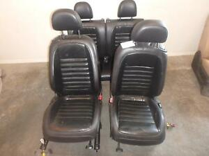 11 17 Volkswagen Beetle Front Rear Seat Black Leather Manual