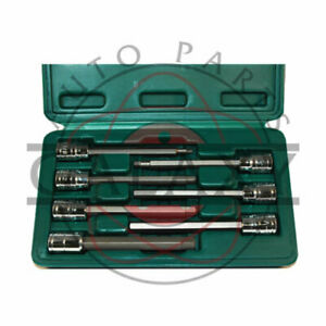 Atd 7 Piece Extra Long Sae Hex Bit Socket Set 13786