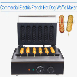 1550w Nonstick Electric French Hot Dog Waffle Maker Machine Store Snack Bar 110v