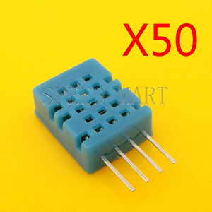 50 Pcs 5v Sip 4 Dht11 Digital Temperature Humidity Sensor Probe For Hvac Arduino