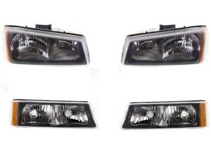 2005 2006 Chevy Silverado For Headlights W Park Signal Lamps 07 Classic Set 4