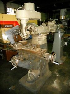 Index 645 Vertical Mill With Power Feed Table And Universal Slotting Head