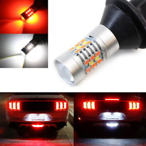 Red White Led Rear Fog Reverse Light Conversion Kit For 2015 Up Ford Mustang