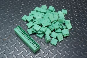 Lot Of 100 Phoenix Contact Front 4v 7 62 Pcb Terminal Block 630 V 62 A