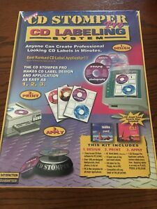Stomp Inc cd Stomper Pro Cd Labeling System New Sealed