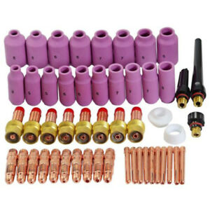 1 Set 51pcs Tig Welding Torch 17 18 26 Gas Lens Accessory Kit Fit For Weldcraft