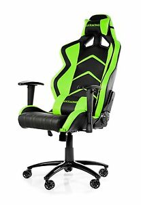 Racing Car Style Desk Office Gaming Chair Pu Leather Green black