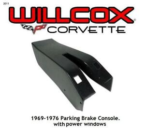 Corvette Parking Brake Console With Pwr Windows 69 76