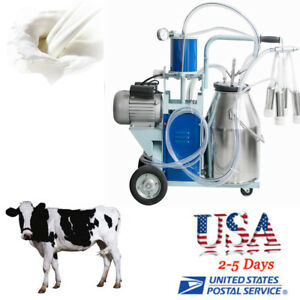 Electric Milking Machine Vacuum Piston Pump Milker For Farm Cow Dairy Qualified