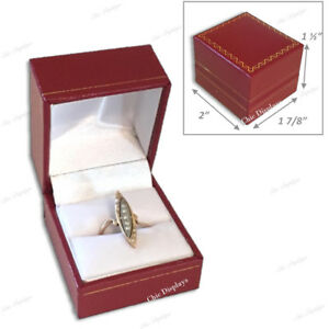 Lot 48 Quality Leatherette Ring Box Faux Leather Red Ring Box Jewelry Gift Box
