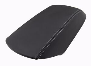 Fits 11 18 Ford Explorer Gray Stitch Vinyl Leather Center Console Armrest Cover