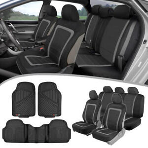 Car Seat Covers Heavy Duty Rubber Floor Mats Split Seat Full Interior Set
