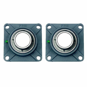 2x Ucf212 39 2 7 16 Square 4 Bolt Flange Bearing