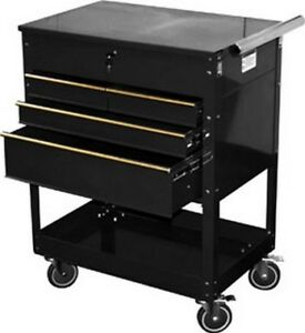 Professional 4 drawer Service Cart Black Atd 7046 Brand New