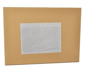 7 5 X 5 5 Clear Packing List Slip Holders Envelopes Plain Face 36000 Pouches