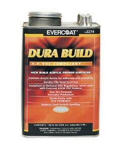 Dura Build Acrylic Primer Surfacer Gray Gallon Fib 2274 Brand New