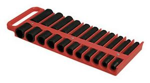 Large Magnetic 1 2 Socket Tray Red Lis 40900 Brand New