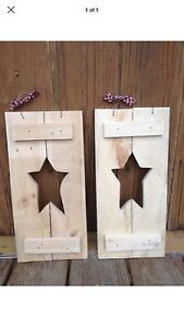 Rustic Primative Wooden Shutters For Decor