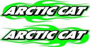 Arctic Cat Snowmobile Trailer Flame 2 Sticker Decal Set 11 X 48 Left