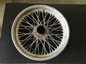 Vintage 17 Wire Wheel With Dunlop Gold Seal Tire 1