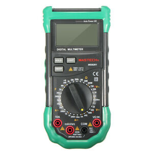 Mastech Ms8261 Lcd Backlight Display Digital Multi Meters Ac dc Volt Amp Hfe Tes
