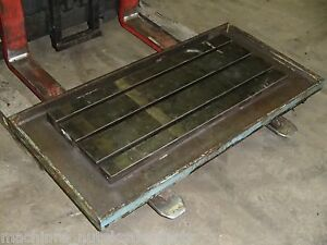 46 875 X 22 625 X 4 5 Steel Welding 3 T slotted Table Cast Iron Layout Plate