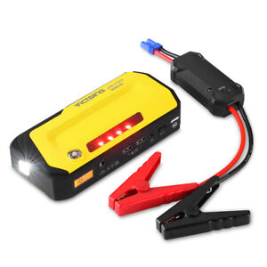 18000mah Dual Usb Car Jump Starter Emergency Charger Booster Power Bank Battery