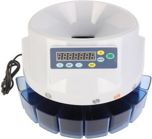 Automatic Digital Electronic Us Coins Counter Money Sorter Machine Led Display
