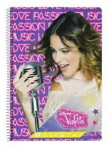 Disney Violetta Writing Block Notebook Spiral Notebook Notepad Block Spialblock