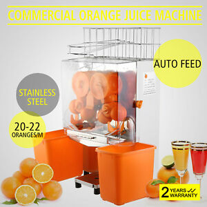 Commercial Electric Orange Squeezer Juicer 120w Fruit Maker Extractor Auto Feed