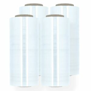 4 Rolls 18 X 1500ft 80 Gauge Pallet Wrap Stretch Film Hand Shrink Wrap New