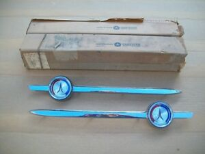 1964 64 Plymouth Fury 4 Door Nos Mopar Roof Belt Line Molding Ornament Pair