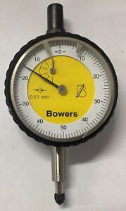 Fowler Bowers Dial Indicator 0 5 00mm Range 0 01mm Graduation