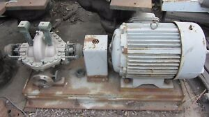 Carver Fire Flushing Pump 400gpm 100psi W 50hp Louis allis Motor