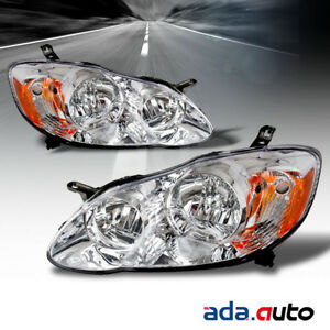 For 2003 2004 2005 2006 2007 2008 Toyota Corolla Factory Style Chrome Headlights