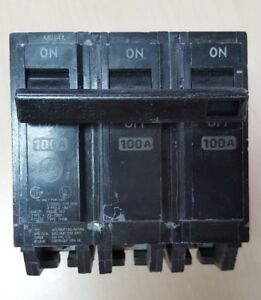 Ge Circuit Breaker Thqb32100 3 Pole 100 Amp Bolt On 120 240 Vac