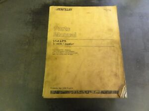 Caterpillar Cat 963 Lgp Track Type Loader Parts Manual Sebp1339 01