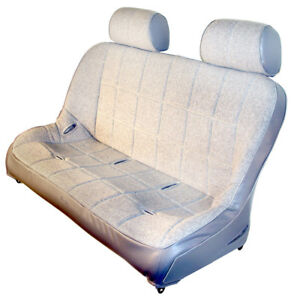 48 Off Road Bench Seat Grey Vinyl With Grey Fabric Inner Dunebuggy