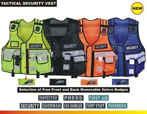Tactical Vest Security Enforcement Cctv Dog Handler High Visibility